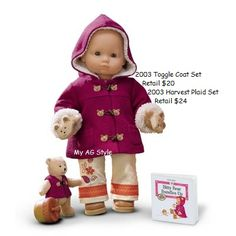 American Girl Doll Brand Bitty Baby Toggle Coat Set