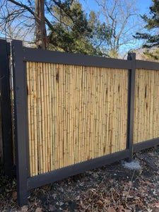 Backyard Bamboo Fence : 4 Steps (with Pictures) - Instructables Backyard Bamboo Fence : 4 Steps (with Pictures) - Instructables diy plans Bamboo Privacy Fence, Bamboo Garden Fences, Backyard Privacy, Privacy Fences, Backyard Fences, Backyard Landscaping, Bamboo Fencing Ideas, Privacy Fence Designs, Garden Fence Panels