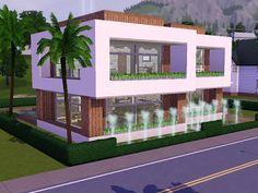 Sims CCs The Best Modern Oasis By Frau Engel Sims CC Finds - Minecraft hauser zum nachbauen modern