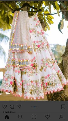 Latest Designer Lehenga Flopral Style And Designer Blouse -By Bridal lehengaShope - Source by HighAwareness - Indian Bridal Outfits, Indian Bridal Lehenga, Indian Designer Outfits, Anarkali, Chanya Choli, Indian Bridesmaids, Designer Bridal Lehenga, Lehnga Dress, Indian Gowns Dresses