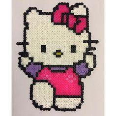 Hello Kitty hama beads by  geekypixelemporium