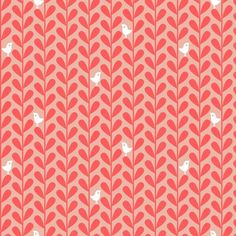bird leaf, salmon (ttoz)  http://www.spoonflower.com/fabric/1352124#