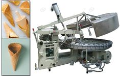 Price of Ice Cream Cone Maker Machine  This machine is designed for making ice cream cones, want to know more details and price, please contact with lisa@machinehall.com or whatsapp:008618595717505