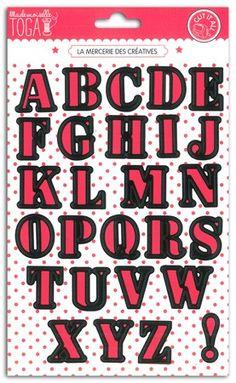 Dies Alphabet- Lettres majuscules 2,7cm - TOGA - DCG511
