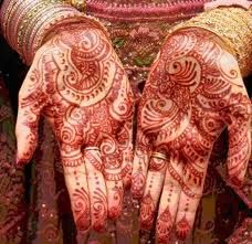 Wedding mehndi is an integral part of an Indian bride's beauty on her wedding day. the mehendi is applied in intricate designs drawn with very thin lines with the help of a mehendi cone. Indian wedding ceremony is mostly considered to be imperfect without having mehndi.