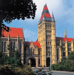 Victoria University of Manchester, a grade II* listed building by Alfred Waterhouse. Manchester Travel, Midland Hotel, University Of Manchester, British Travel, Rochdale, Manchester England, Listed Building, Salford, Republic Of Ireland