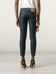 Dsquared2 Calça Jeans Cropped - Boutique Tricot - Farfetch.com