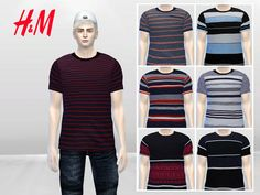 Boyish Stripes Large Tees by McLayneSims at TSR via Sims 4 Updates  Check more at http://sims4updates.net/clothing/boyish-stripes-large-tees-by-mclaynesims-at-tsr/