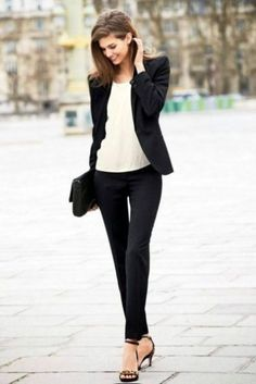 Stunning Business Work Casual Outfits Ideas For Ladies 36 interview outfit ideas for women Casual Chic, Work Casual, Casual Office, Casual Fall, Cute Work Outfits, Classy Outfits, White Outfits, Womens Fashion For Work, Look Fashion