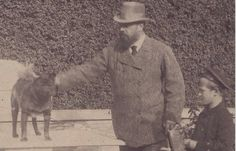 Tsar Alexander III with his son GD Mikhail and a dog in Gatchina _BM