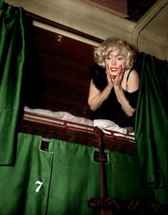 Marilyn on the set of Some Like it Hot