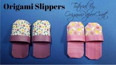 Origami: Slippers || OrigamiPaperCraft || Tutorial for beginners!