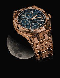 Big Watches, Luxury Watches, Patek Philippe, Black Rolex, Audemars Piguet Royal Oak, Gadgets, Bling Bling, Gold, Label