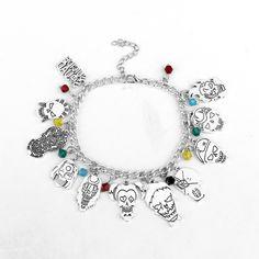 New Design Suicide Squad Bracelet Multiple Clown Pendant | Movie Jewelry