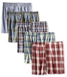 Amazon.com: Fruit of the Loom Men's 5 Pack Tartan Boxer: Clothing
