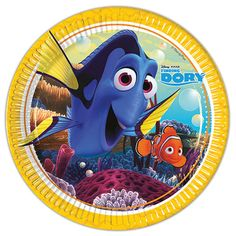 Finding Dory Round Paper Plate – 23cm Sold: Single Size: 23cm / 9″ Shape: Round Material: Paper