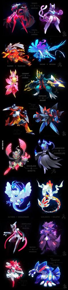 Pokemon Fusions, i wish all pokemon looked this amazing.