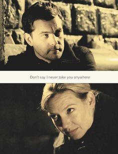 """Don't say I never take you anywhere."" Peter & Olivia #Fringe"
