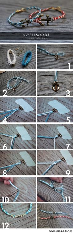 DIY anchor jewelry- how to the thicker braid