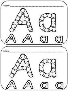 Alphabet Q-Tip Painting Pages- Preschool or Kindergarten Word Work Teaching Abcs, Teaching Letters, Preschool Literacy, Preschool Letters, Early Literacy, Preschool Art, Toddler Preschool, Kindergarten, Abc Crafts