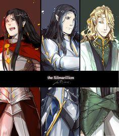 décadence Silmarillion Feanor, Fingolfin, Finarfin