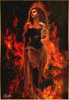 A woman goes through the fire ❤ Eine Frau geht durch das Feuer imagenes fantasmas Fantasy Kunst, Dark Fantasy Art, Fantasy Artwork, Dark Art, Beltane, Fogo Gif, Flame Art, Fire Element, Fantasy Pictures