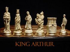 "6.5"" king// MEDIEVAL Chess Set ""antiqued"""
