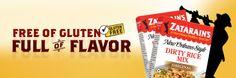 Zatarains... Free of gluten, full of flavor. Lots of Recipes using Zatarains