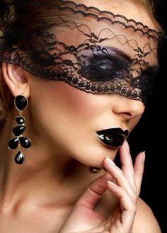 Exotic black makeup
