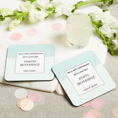 Personalised Wedding Favour Guest Coasters By Theme Love Lilah