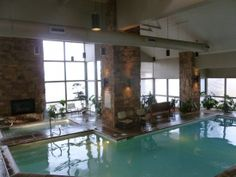 Indoor pool at this vacation home in Park City Utah