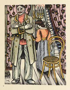 KOUPRINE (Alexandre). La Fosse aux filles. Paris, Éditions Mornay, 1926. Édition illustrée d'un frontispice et de nombreux bois en couleurs dans le texte par Jean Lébédeff.