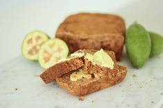 Sugarfree Feijoa Loaf Recipe Blog NZ Loaf Recipes, Baking Recipes, Yummy Recipes, Recipies, Healthy Baking, Healthy Snacks, Yummy Food, Tasty, Loaf Cake