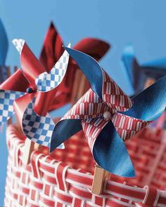 Clothespin Pinwheel - put the pieces together and use as a craft for kids on the 4th