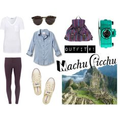 Machu Picchu trip outfit by aimieslee on Polyvore featuring moda, Quiksilver, T By Alexander Wang, Dorothy Perkins, Converse, ASOS, Illesteva and The Letter