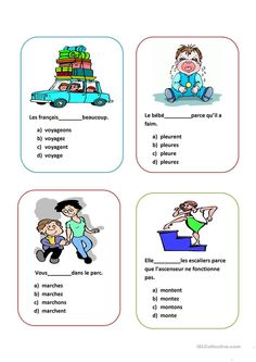 French Learning Games Cards To Learn French How To Sew French Learning Games, French Language Learning, Teaching French, Kids Learning, French For Beginners, French Worksheets, French Verbs, French Education, French Teacher