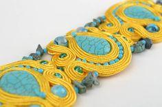 Beautiful Handmade Designer Soutache Bracelet with Natural Turquoise Stone Gift   eBay