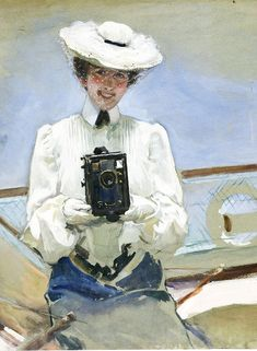 Cecilio Plá y Gallardo - 1903 Yachtwoman Camera Obscura, Painting, Art, Hat, Characters, Painting Art, Paintings, Painted Canvas, Drawings