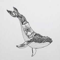 Doodle Drawing, Whale Drawing, Tattoo Drawings, Art Drawings, Stippling Art, Whale Tattoos, Photo Deco, Whale Art, Surfboard Art