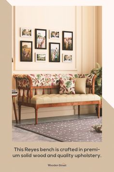 Living Room Bench, Living Room Furniture, Traditional Benches, Bench With Back, Wooden Street, Sofa Bench, Furnitures, My Dream Home