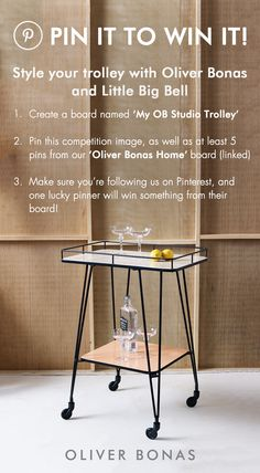 #pintowin! Pin to Win! Our Studio Trolley has been a runaway blogger favourite! Show us how you'd style one to win something you love from OB. More details above. (P.S. Stay tuned for styling tips from @littlebigbell on the blog next week!) **** Pin it to #Win it!
