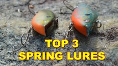 In order to be successful at bass fishing in Spring, here are the three most productive Spring bass lures that will help catch fish at all depths this time of year. Bass Fishing Videos, Bass Lures, Bullet, Posters, Spring, Happy, Poster, Ser Feliz, Billboard