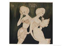 Lingerie in London, Paris, New York Illustration Poster at AllPosters.com