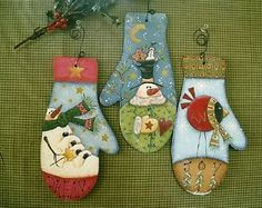 Look at that bird! This pattern for Three Winter Mittens is available as a download for $5.00