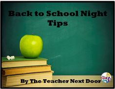 Blog post:Back to School Night Tips with five ideas to make your Back to School/Meet the Teacher Night a successful one!