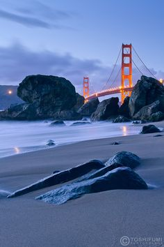 Baker Beach [with the Golden Gate Bridge in the Background], San Francisco, CA Oh The Places You'll Go, Places To Travel, Places To Visit, Puente Golden Gate, San Francisco Beach, San Fransisco, Golden Gate Bridge, Wyoming, Travel Usa