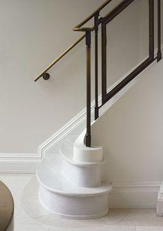 Sculptural marble staircase in a Parisian townhouse   Katherine Scott Design Studio: