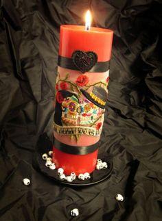DIY Dia de los Muertos unity candle   Offbeat Bride