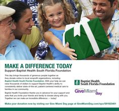 #GiveMiamiDay starts at 12:01 a.m. on November 20. Give the gift of health today!