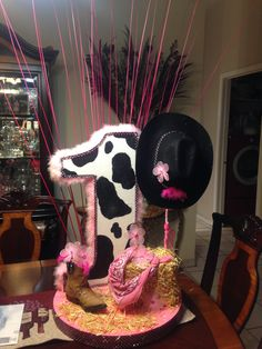 Cowgirl centerpiece